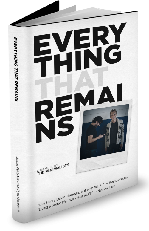 Everything That Remains: A Memoir by The Minimalists, cover design by SPYR Media