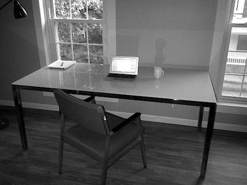 Joshua's Desk with Coffee Cup