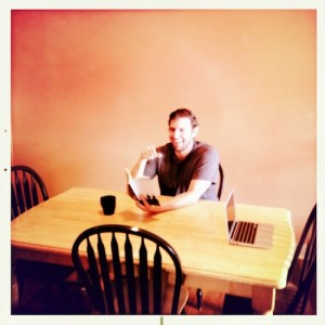 Ryan Reading in the Diningroom, The Minimalists