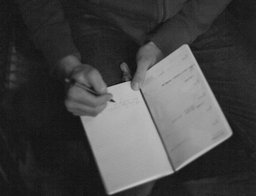 JFM writing, photo by Marla Sarris