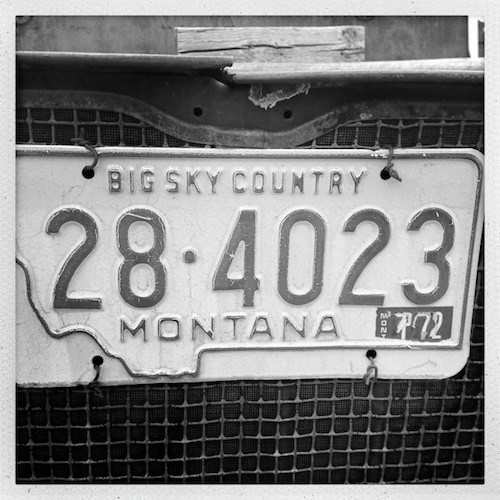 Old School Montana License Plate