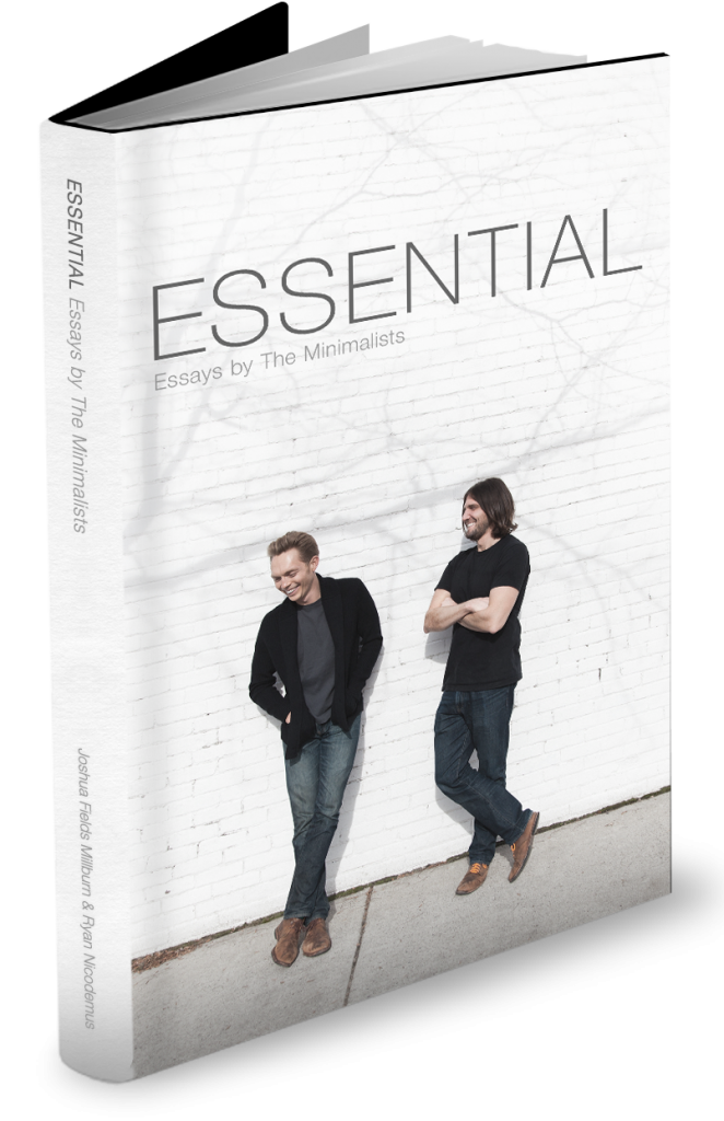 Essential: Essays by The Minimalists, cover design by SPYR