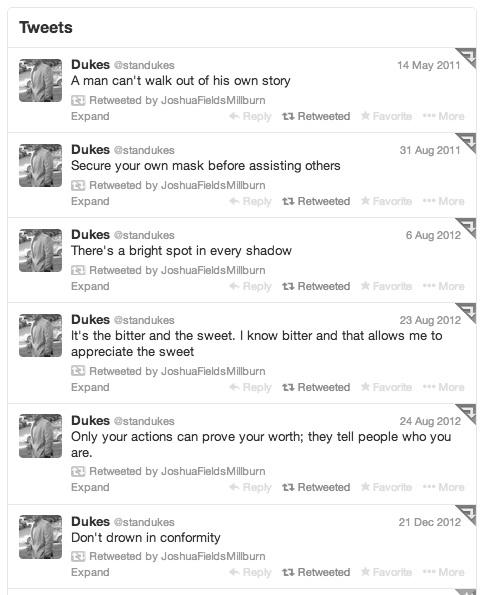 Dukes Tweets