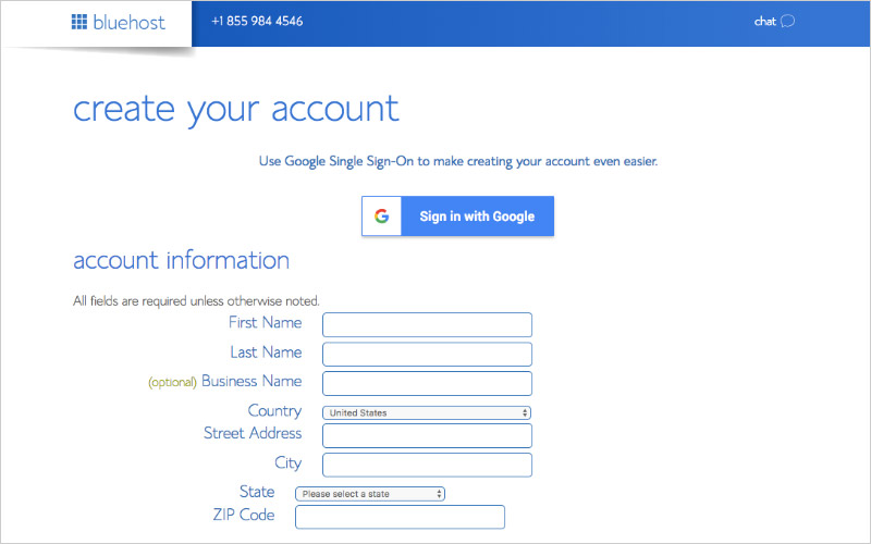 Create Your Hosting Account