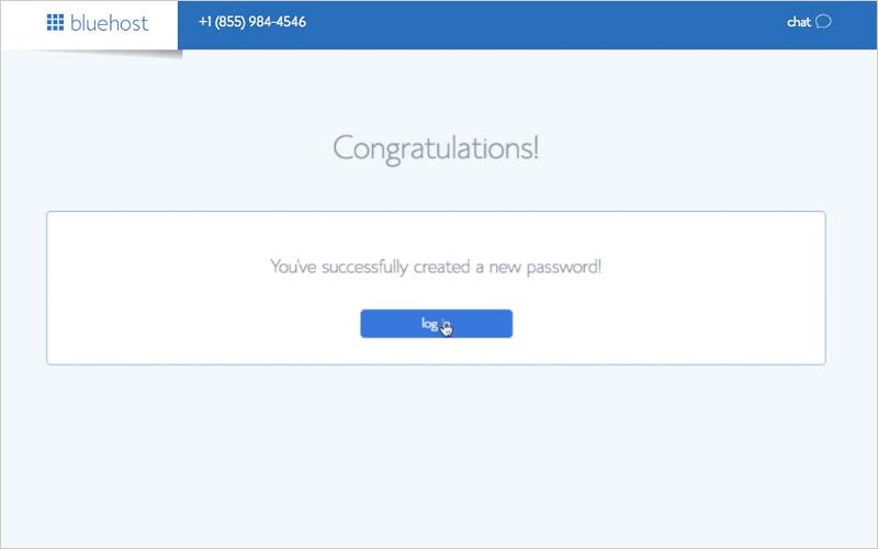 Password Set Up Complete