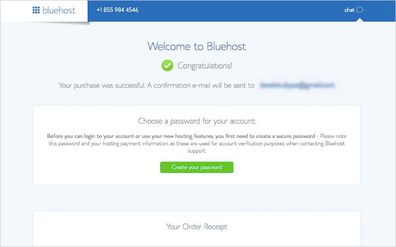 Step 1 - Welcome to Bluehost