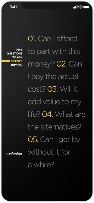 Five questions to ask before buying